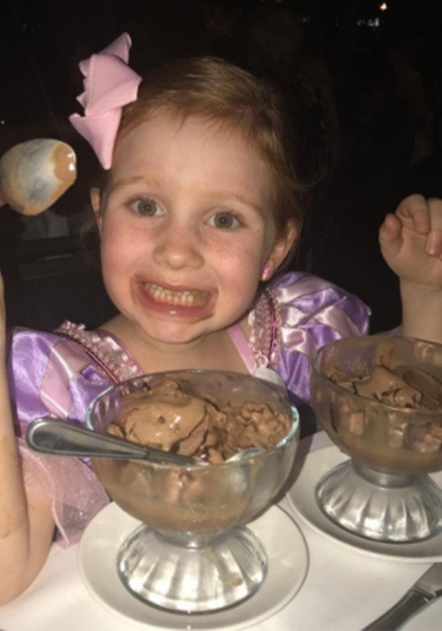 Pixie indulged in delicious desserts while on holiday. Photo: Instagram