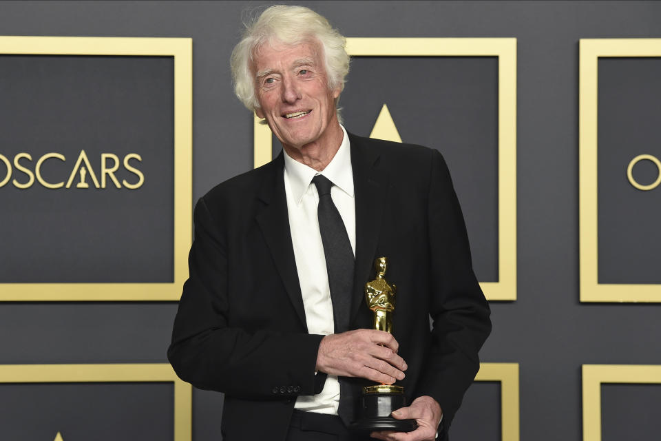"<p>Roger Deakins, won his second Oscar for best cinematography for ""1917. He had previously won for Blade Runner 2049 in 2018 after 12 career nominations and losses. (Jordan Strauss/Invision/AP)</p>"