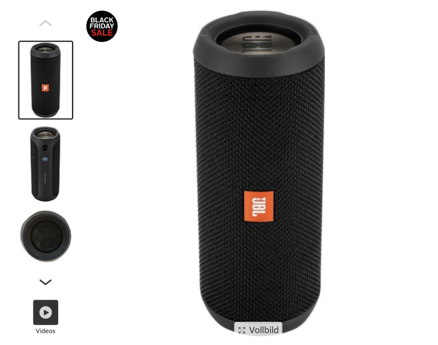 JBL Flip 3 Stereo Bluetooth-Lautsprecher (Screenshot: Otto)