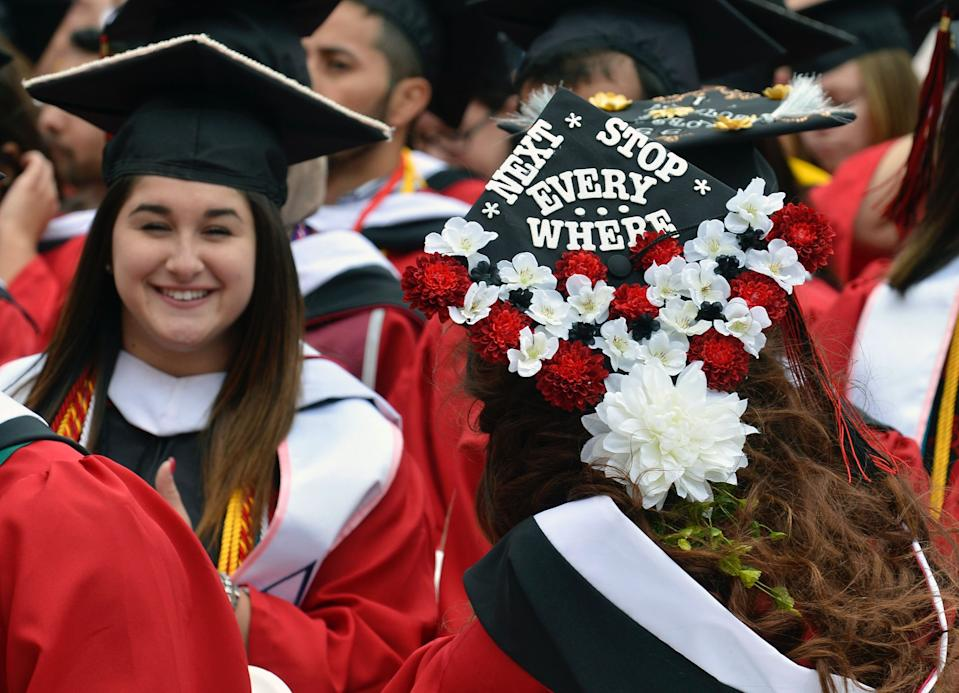 A 2016 graduate of Rutgers University in Piscataway, New Jersey, U.S., May 15, 2016. (Photo: REUTERS/Mike Theiler)