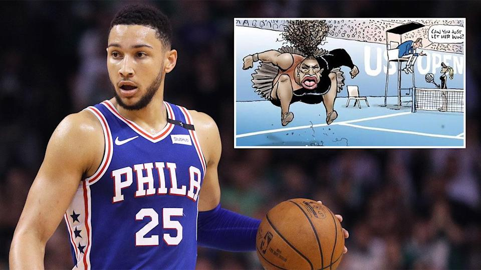 Ben Simmons says he was disappointed with the controversial cartoon. Pic: Getty/Mark Knight