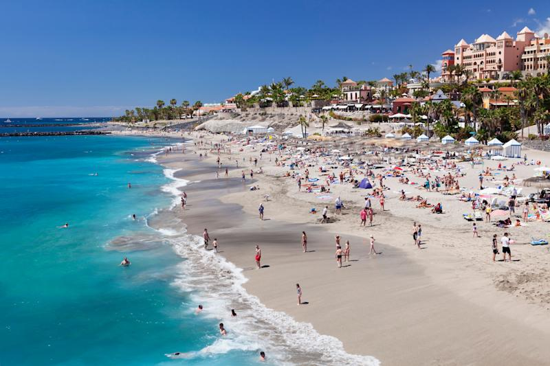 A beach at Costa Adeje, Tenerife. A hotel in Adeje has been put under quarantine after an Italian doctor staying there tested positive for coronavirus.  (Photo: Markus Lange via Getty Images)