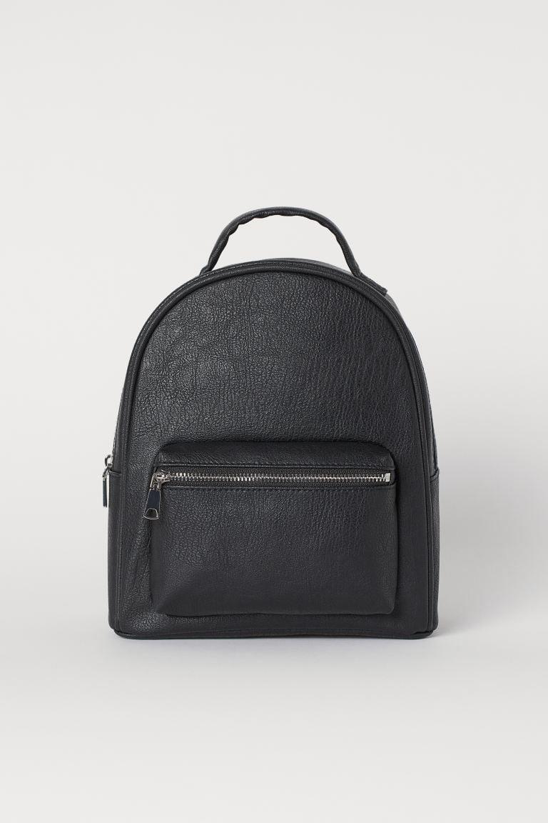 <p>If you're looking for a useful bag that's both cute and functional, look no further. May we introduce you to the <span>H&amp;M Small Backpack</span> ($25).</p>