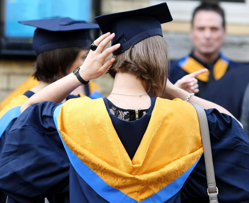 The proportion of graduates securing full-time jobs just over a year after leaving university has fallen (PA) (PA Wire)