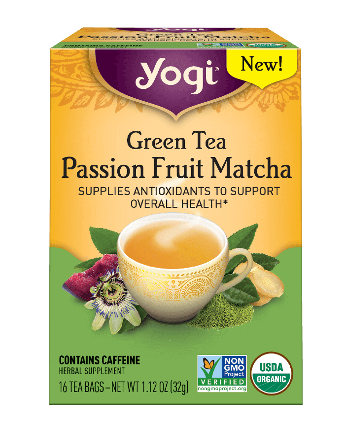 <p>This <span>Yogi Green Tea Passion Fruit Matcha Tea</span> ($4.49) is warming and delicious; it's the perfect afternoon pick-me-up.</p>