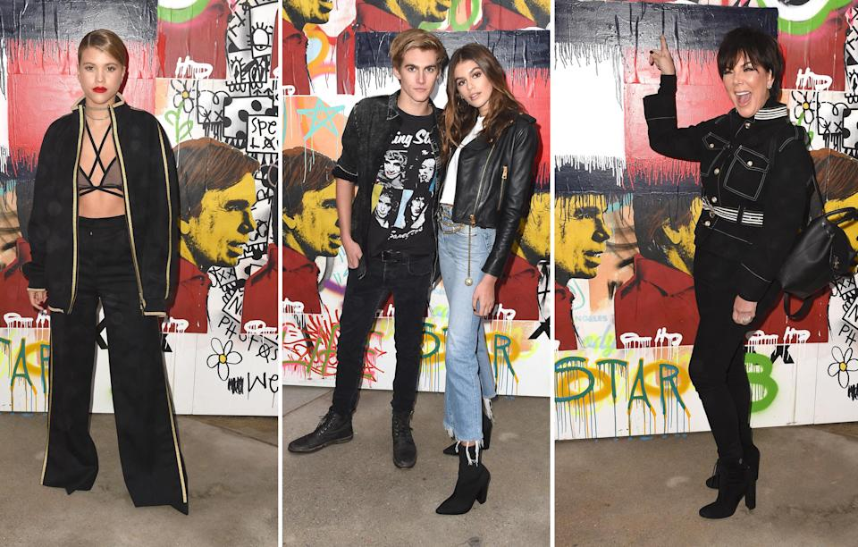 <p>Everyone from Sofia Richie to Kris Jenner turned out for the event with Cindy Crawford's model children, Presley and Kaia Gerber, also spotted in the crowd.<br><i>[Photo: Getty]</i> </p>