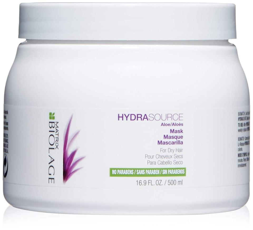 <p><span>BIOLAGE Hydrasource Mask</span> ($14, originally $24)</p>