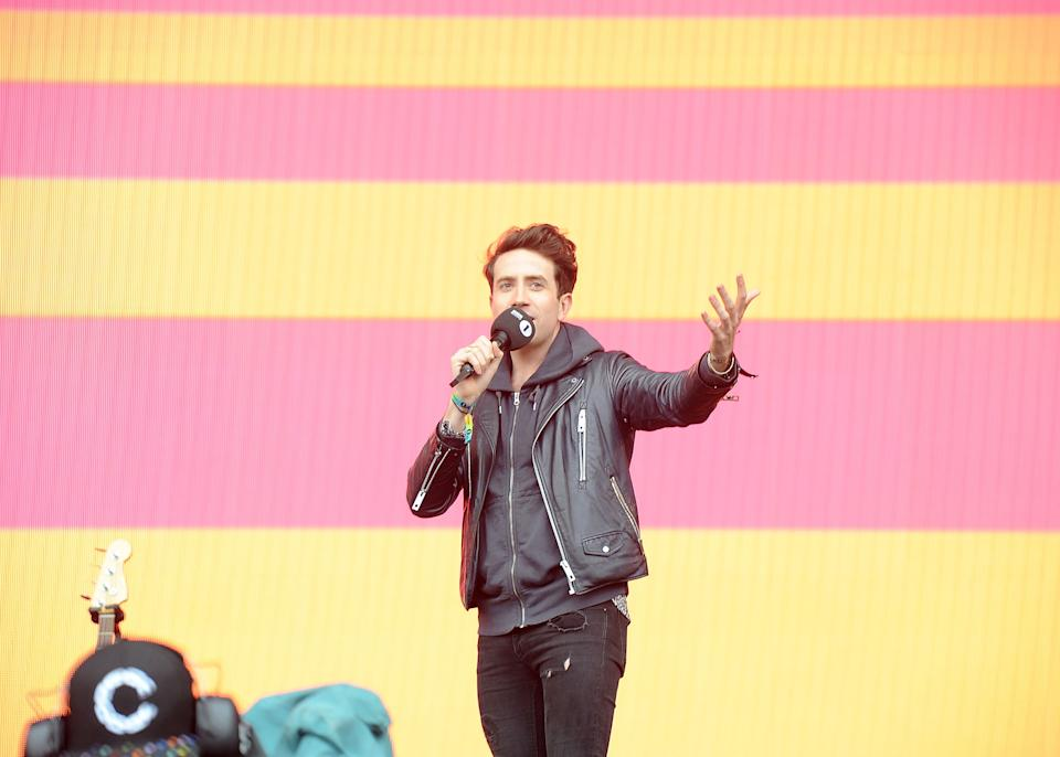 NORWICH, ENGLAND - MAY 24:  Nick Grimshaw presents on stage on day two of BBC Radio 1's Big Weekend 2015 at Earlham Park on May 24, 2015 in Norwich, England.  (Photo by Brian Rasic/WireImage)
