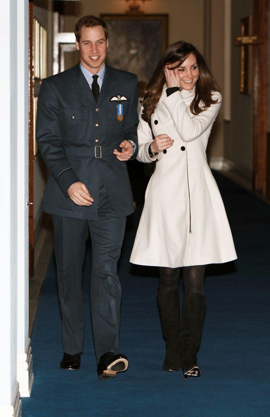 <p>Kate was first seen wearing the coat back in 2008, prior to her engagement with Prince William, at the Central Flying School when William received his RAF wings. </p>