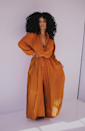 """<p>shopnicholelynel.com</p><p><strong>$138.50</strong></p><p><a href=""""https://shopnicholelynel.com/collections/dresses/products/pleat-flow-dress"""" rel=""""nofollow noopener"""" target=""""_blank"""" data-ylk=""""slk:Shop Now"""" class=""""link rapid-noclick-resp"""">Shop Now</a></p><p>You can't wrong with a button-down dress, especially this gorgeous pleated option. Make sure you leave a few undone to show off your pants. </p>"""