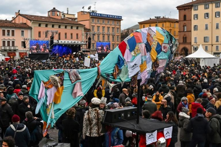 """The """"Sardines"""" movement was launched in November to fight anti-immigrant politician Matteo Salvini (AFP Photo/ANDREAS SOLARO)"""