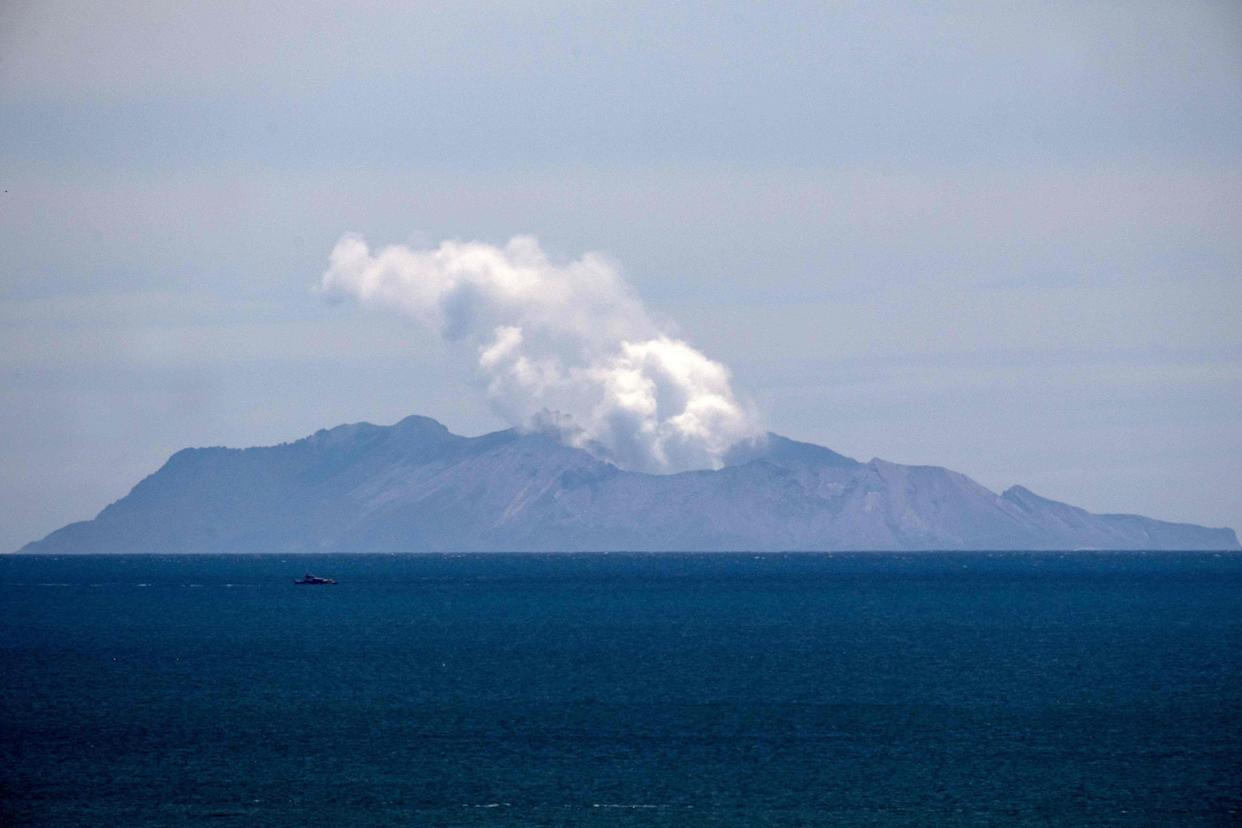 Image: Steam rises from the White Island volcano following the Dec. 9 volcanic eruption, in Whakatane