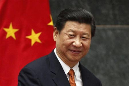 China's President Xi attends a news conference at Los Pinos Presidential Palace in Mexico