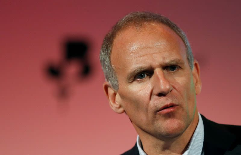 FILE PHOTO: Dave Lewis, Tesco CEO, speaks at the the British Chamber of Commerce annual conference in London