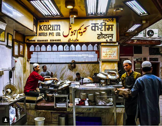 <p>Tucked away in the narrow lanes of Chandni Chowk, Karim's has been in business since 1913. Amidst the chaos of what could well be the microcosm of India, Karim's is a haven for the hungry. Head over to Karim's for its Nihari and Jahangiri and also the opportunity to watch life go by as you dig into your second plate of mutton biryani.<br />Photograph: Saad Akhtar/Flickr </p>