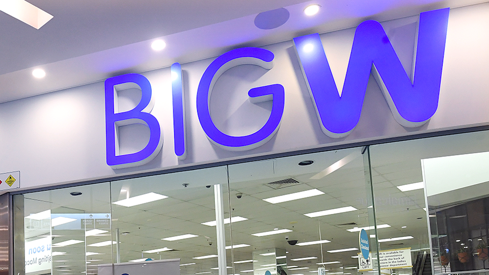 Big W store sign image