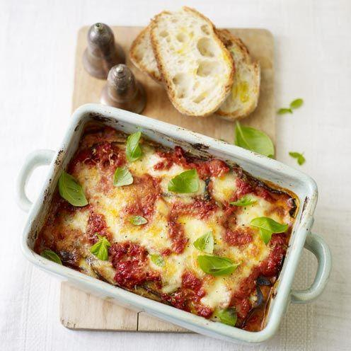 """<p>This aubergine bake is a little fiddly, but well worth the wait.</p><p><strong>Recipe: <a href=""""https://www.goodhousekeeping.com/uk/food/recipes/a535366/aubergine-bake/"""" rel=""""nofollow noopener"""" target=""""_blank"""" data-ylk=""""slk:Aubergine Bake"""" class=""""link rapid-noclick-resp"""">Aubergine Bake</a></strong></p>"""
