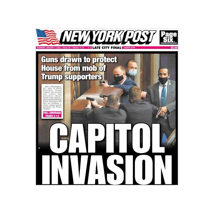 'Capitol Invasion' read the New York Post - -/-