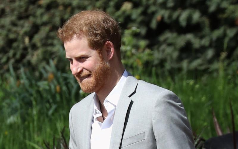 Prince Harry arrives at the marathon - i-Images Picture Agency