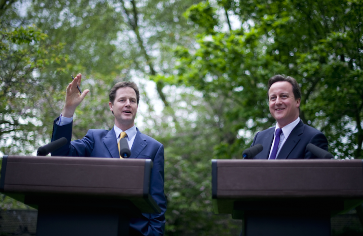 Nick Clegg and David Cameron formed a coalition in 2010 (Picture: Rex)