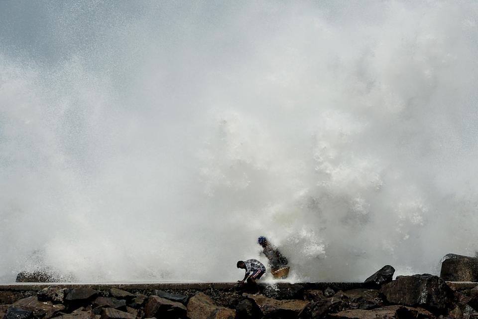<p>Restrictions on public gatherings have been imposed in some coastal cities as they brace for Cyclone Nivar</p> (AFP via Getty Images)