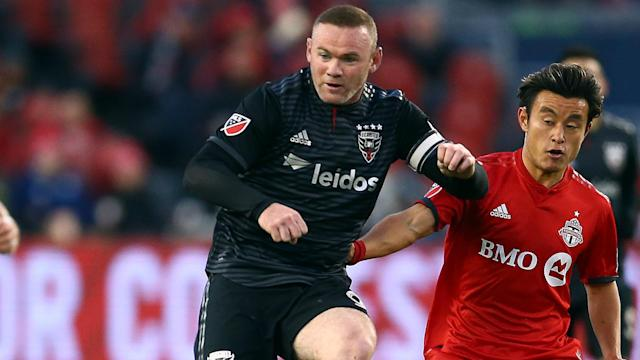 Derby County-bound Wayne Rooney was helpless as DC suffered a 5-1 defeat to Toronto after extra time in the opening round of the play-offs.
