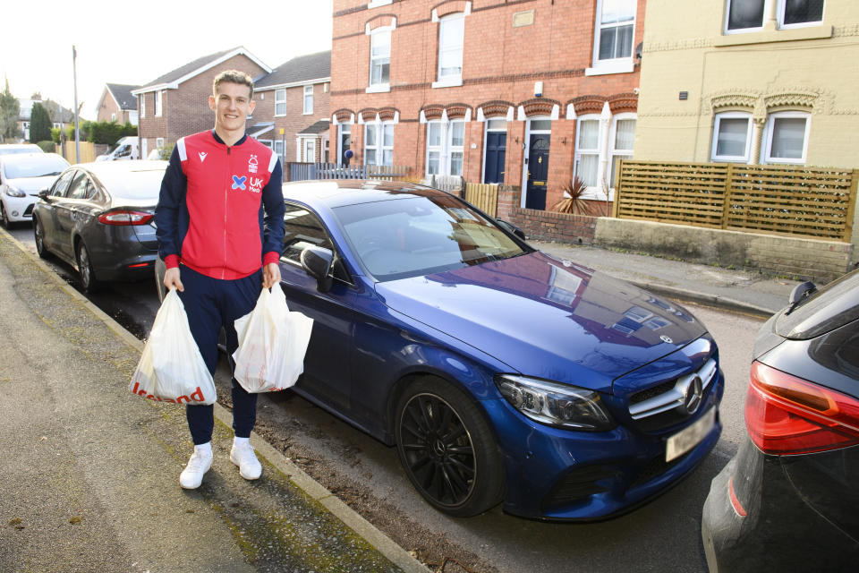 Ryan Yates delivered the one millionth food parcel