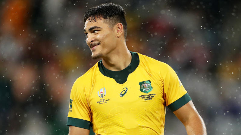 Jordan Petaia has been ruled out for the rest of the season for the Queensland Reds. (Getty Images)