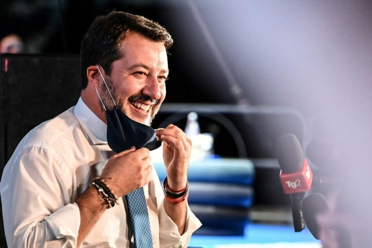Matteo Salvini's far-right League party could make gains if there are snap elections