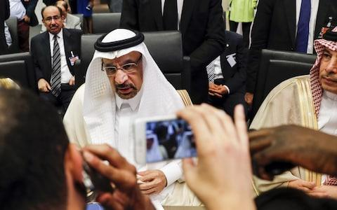 Khalid Al-Falih, Saudi Arabia's energy and industry minister speaks during Opec on Friday June 22 - Credit: Bloomberg