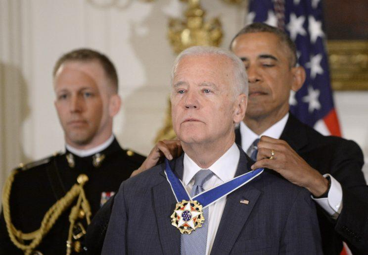 Joe Biden is another prominent figure to have recently shed a tear in public [Photo: Getty]