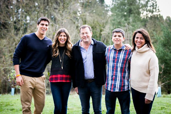 Andrew Luccock of Portland, Ore., with his family. Photo courtesy of Andrew Luccock