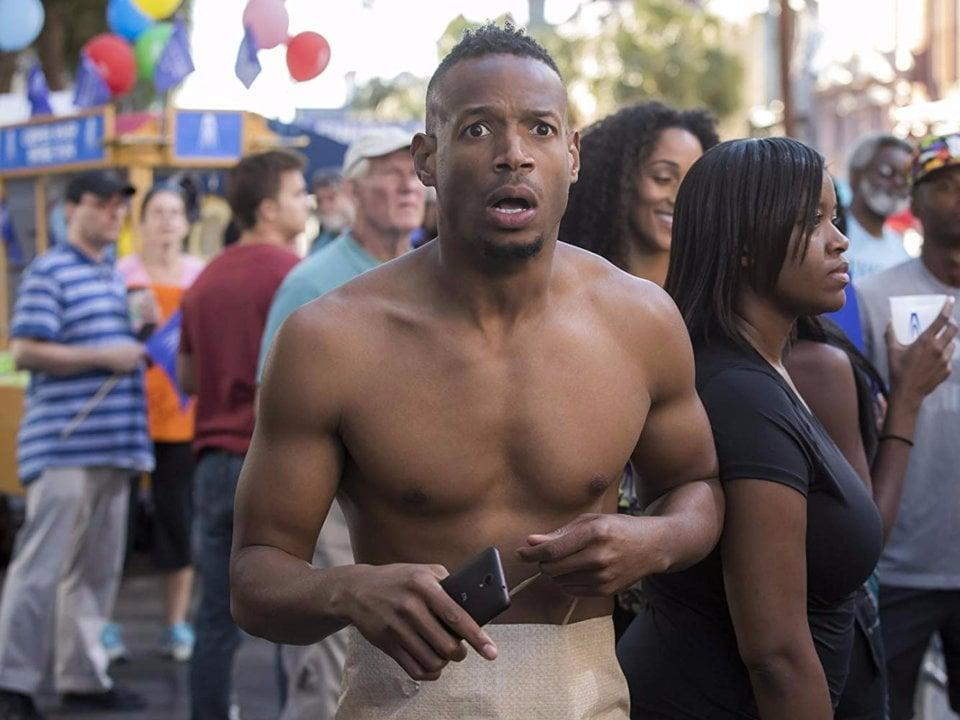 """<p>Starring Marlon Wayans and and Regina Hall, <strong>Naked</strong> revolves around a guy who can't seem to make it down the aisle to marry the girl of his dreams because he keeps waking up in a hotel elevator. Oh yeah, and he's also naked. It's basically <strong>Groundhog Day</strong>, but without clothes. We don't get it either.</p> <p><a href=""""http://www.netflix.com/title/80142058"""" class=""""link rapid-noclick-resp"""" rel=""""nofollow noopener"""" target=""""_blank"""" data-ylk=""""slk:Watch Naked on Netflix now."""">Watch <strong>Naked</strong> on Netflix now.</a></p>"""