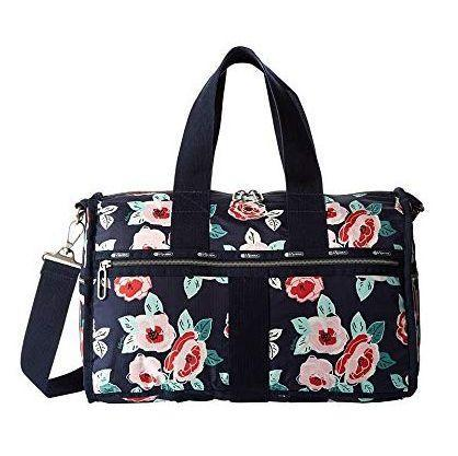 """<p><strong>LeSportsac</strong></p><p>amazon.com</p><p><strong>$98.00</strong></p><p><a href=""""https://www.amazon.com/dp/B01C3MHV5O?tag=syn-yahoo-20&ascsubtag=%5Bartid%7C10070.g.3239%5Bsrc%7Cyahoo-us"""" rel=""""nofollow noopener"""" target=""""_blank"""" data-ylk=""""slk:SHOP NOW"""" class=""""link rapid-noclick-resp"""">SHOP NOW</a></p><p>Forget about a rolling around a suitcase during weekend trips. This bag fits pretty much all of the essentials that she'll need for a girls' weekend away.</p>"""