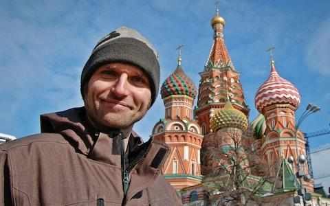Guy Martin in Red Square St Basil's Cathedral - Credit: Channel 4