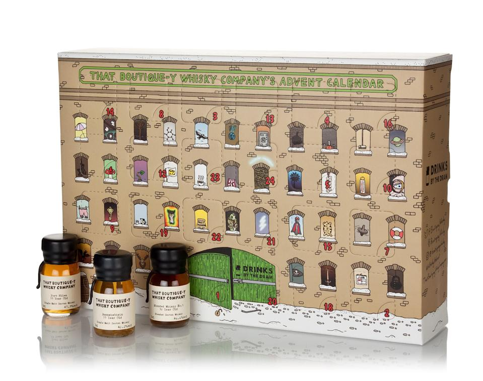 """<p>This is one for real whisky connoisseurs, with a mini bottle a day ranging from aged single grains to mouthwatering single malts, and even a 50 year old Scotch. <a href=""""https://www.masterofmalt.com/whiskies/that-boutiquey-whisky-company/that-boutiquey-whisky-company-advent-calendar/?srh=1"""" rel=""""nofollow noopener"""" target=""""_blank"""" data-ylk=""""slk:Master of Malt, £249.95"""" class=""""link rapid-noclick-resp""""><em>Master of Malt, £249.95</em></a> </p>"""