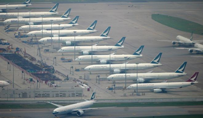 Cathay Pacific planes at Hong Kong's airport. Photo: Sam Tsang