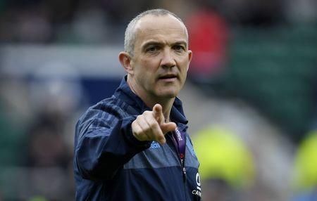 FILE PHOTO - Britain Rugby Union - England v Italy - Six Nations Championship - Twickenham Stadium, London - 26/2/17 Italy head coach Conor O'Shea during the warm up before the game Reuters / Toby Melville Livepic