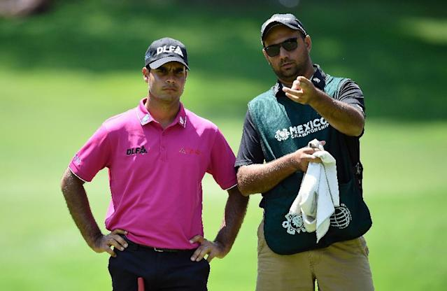 Shubhankar Sharma is set to become only the fourth Indian golfer to play the US Masters. (AFP Photo/ALFREDO ESTRELLA)