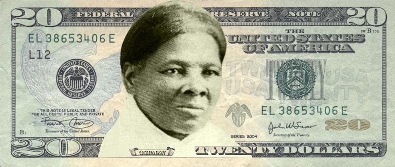 A rendering of Harriet Tubman on the $20, via Womenon20s.org (Photo: Women on 20s)