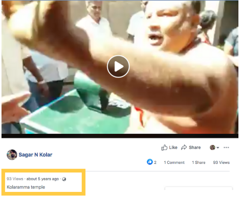 The same video was uploaded on Facebook in 2015 as well.