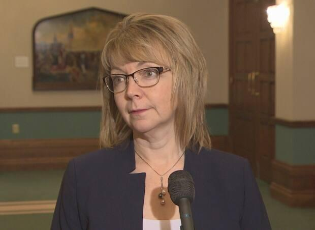 Indigenous Affairs and Reconciliation Minister Lisa Dempster initially called the motion pushing for the renaming of the lake 'a proud day.' However, the process is now being suspended in order for all residents to be consulted on the issue.  (CBC - image credit)