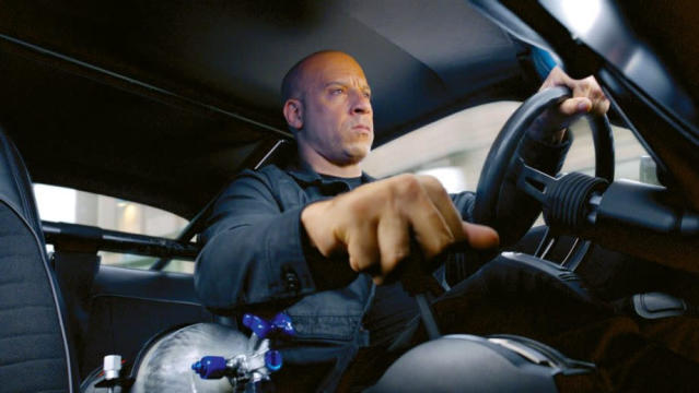 It was delayed a year to make room for spin-off <em>Hobbs & Shaw</em>, but Vin Diesel and his petrolhead buddies are back for a ninth installment in the franchise. No word yet on whether this one will make the jump to space. (Credit: Universal)
