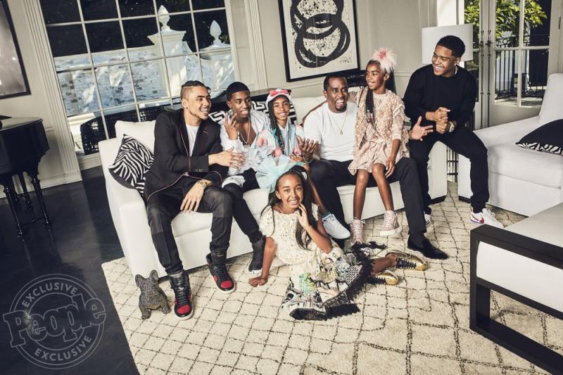 Diddy with his children in 2017 | Koury Angelo