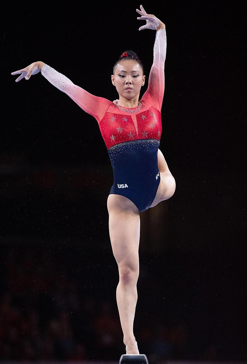 """<p>The 18-year-old gymnastics alternate from Team U.S.A. (who was initially not identified, but has now been named as Eaker) <a href=""""https://people.com/sports/tokyo-olympics-gymnastics-alternate-tests-positive-coronavirus-other-athletes/"""" rel=""""nofollow noopener"""" target=""""_blank"""" data-ylk=""""slk:tested positive"""" class=""""link rapid-noclick-resp"""">tested positive</a> on July 19, <a href=""""https://www.nbcnews.com/news/olympics/member-u-s-women-s-gymnastics-team-tests-positive-covid-n1274334"""" rel=""""nofollow noopener"""" target=""""_blank"""" data-ylk=""""slk:according to NBC News"""" class=""""link rapid-noclick-resp"""">according to NBC News</a>. The outlet reported that she has been contained to training facilities in Narita, Japan after she came in """"close contact"""" with another athlete on the team, who has since been placed """"on standby.""""</p> <p>Al Fong, personal coach for Eaker and fellow alternate Leanne Wong, told <a href=""""https://apnews.com/article/gymnast-covid-2020-tokyo-olympics-44e21e98694b6c82cb57429bf8af4644"""" rel=""""nofollow noopener"""" target=""""_blank"""" data-ylk=""""slk:The Associated Press"""" class=""""link rapid-noclick-resp"""">The Associated Press</a> that Eaker was vaccinated in May, and that both athletes have been placed in isolation.</p> <p>Eaker is the first American to test positive.</p>"""