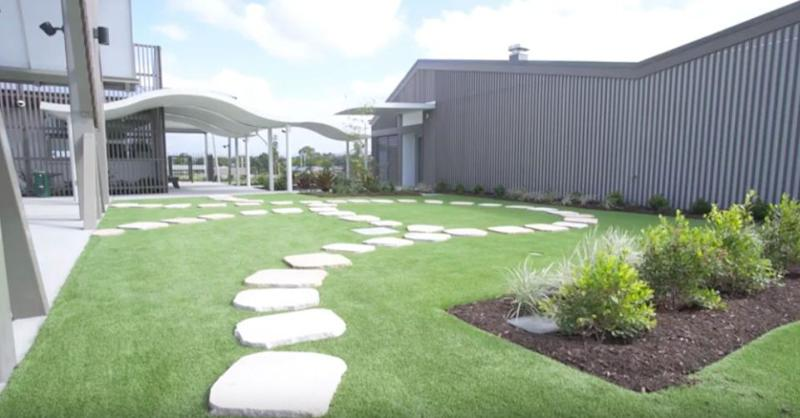 The school's custom-designed garden area. Source: Supplied