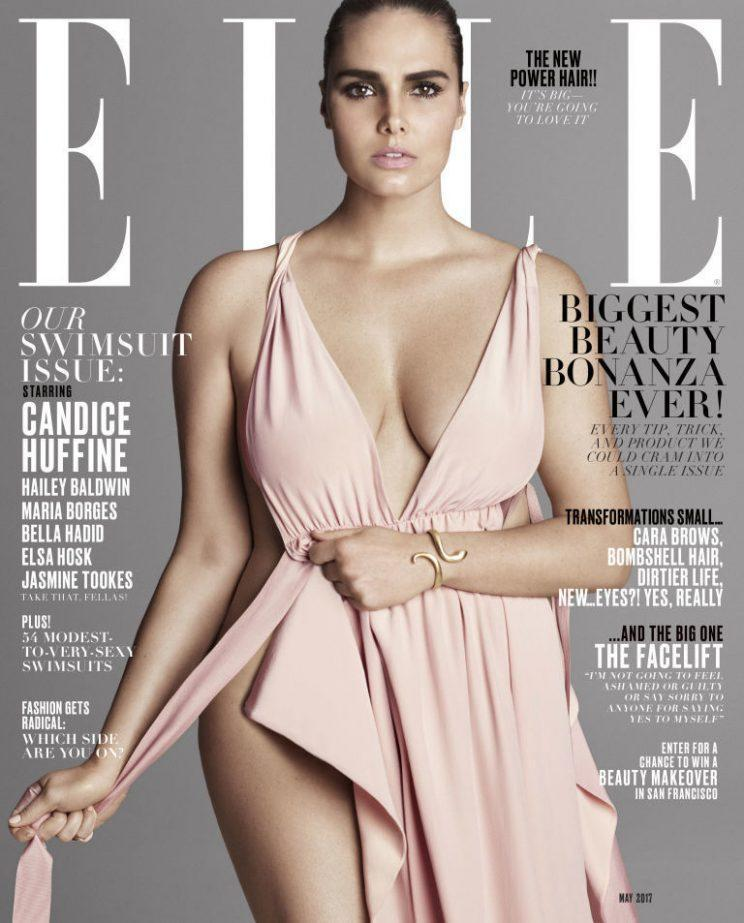 Candice Huffine fronted the May 2017 issue of Elle. (Photo: Elle)