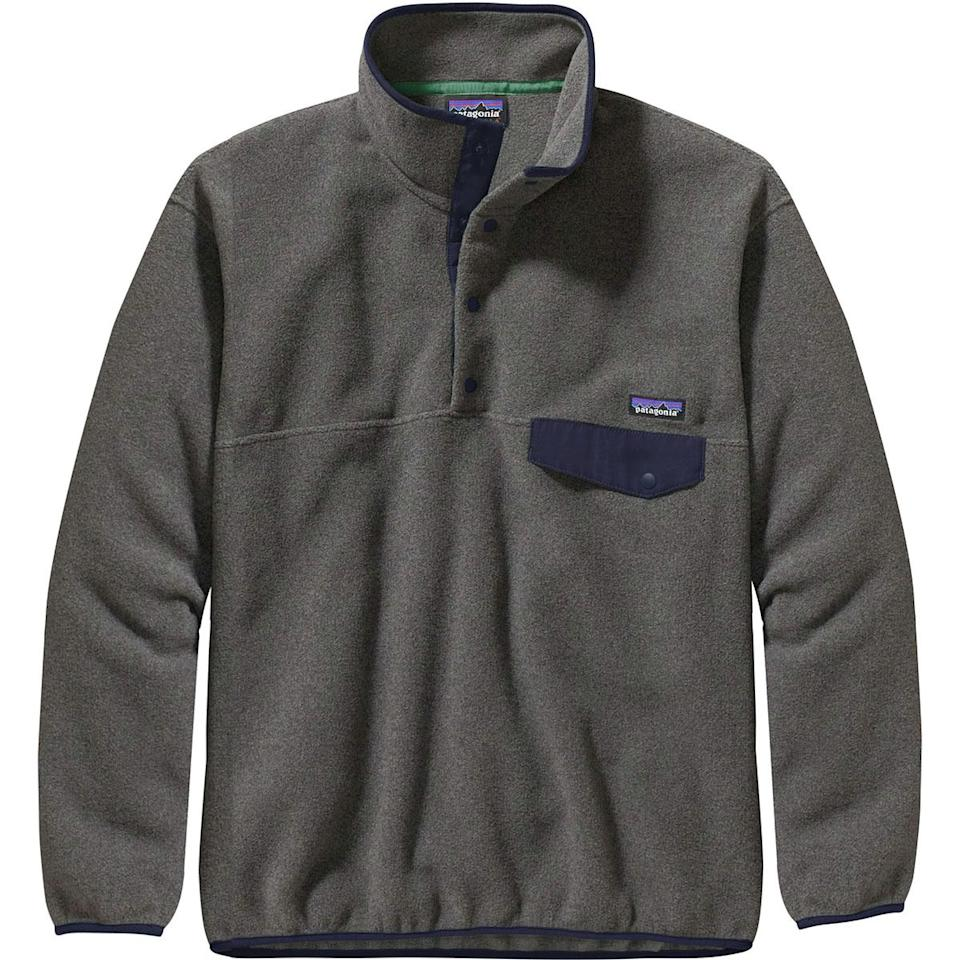 """<p><strong>Patagonia</strong></p><p>backcountry.com</p><p><a href=""""https://go.redirectingat.com?id=74968X1596630&url=https%3A%2F%2Fwww.backcountry.com%2Fpatagonia-synchilla-snap-t-fleece-pullover-jacket-mens&sref=http%3A%2F%2Fwww.menshealth.com%2Ftechnology-gear%2Fg30895473%2Fbackcountry-winter-sale-mens-deals%2F"""" target=""""_blank"""">BUY IT HERE</a></p><p><del>$139.00</del><strong><br>$94.99</strong></p><p>There's a reason Patagonia's Synchilla fleece has a cult-following. With a cozy, eco-friendly fleece, simple design, and range of fun colors, this is one layer that looks good and does good.</p>"""