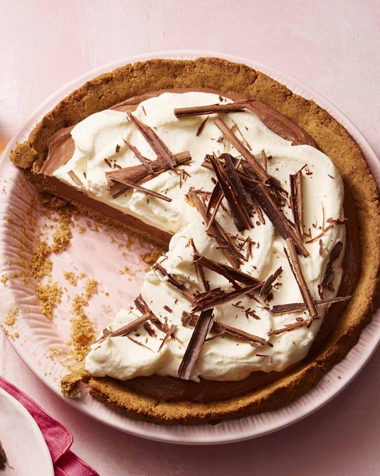 """<p>Heavy cream, bittersweet chocolate curls, and shortbread cookies will make this Easter pie the star of dessert.</p><p><strong>What you'll need:</strong> Lorna Doone shortbread cookies ($14, amazon.com)</p><p><strong><a rel=""""nofollow"""" href=""""https://www.womansday.com/food-recipes/food-drinks/a25908810/mont-blanc-recipe/"""">Get the recipe.</a></strong></p>"""