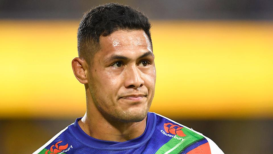 Roger Tuivasa-Sheck is seen here during an NRL game for the Warriors.